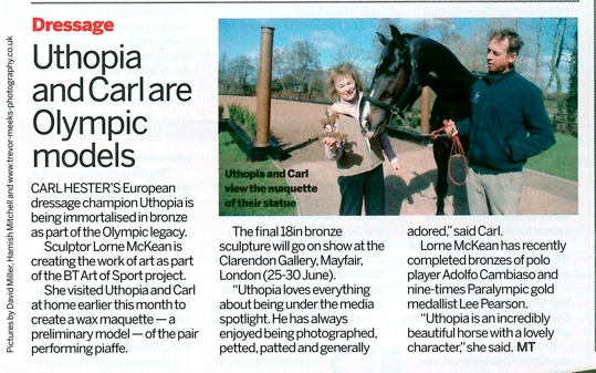 March 2012 Horse and Hound Lorne McKean and Carl Hester